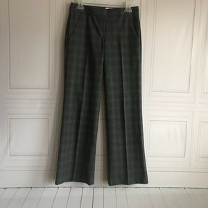Theory Wool Blend Stretch Dress Plaid Pants size 0